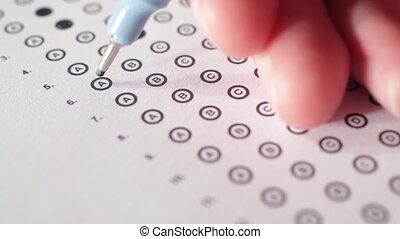 próba, (exam), student