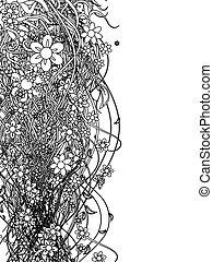 próbka, abstrakcyjny, czarnoskóry, kwiatowy zamiar, twój
