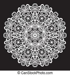próbka, abstrakcyjny, koło, koronka