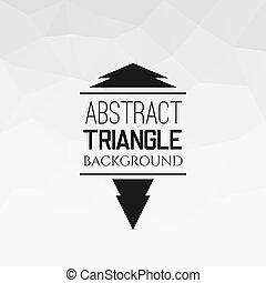 próbka, abstrakcyjny, trójkąt, biały
