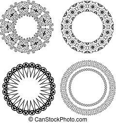 próbka, barok, okrągły
