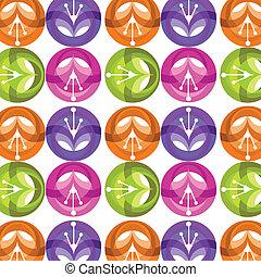 próbka, barwny, ilustracja, wektor, kwiat, błyszczący