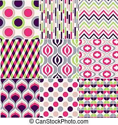 próbka, barwny, seamless, geometryczny