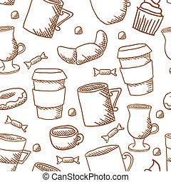 próbka, filiżanki kawy, frajerzy, seamless