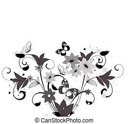próbka, krzak, kwiat