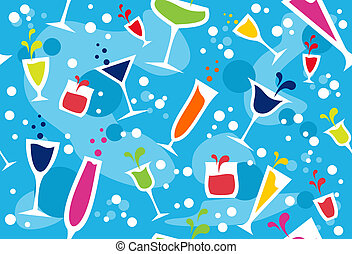próbka, multicolour, cocktail