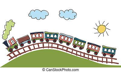 próbka, pociąg