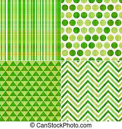 próbka, seamless, struktura, zielony