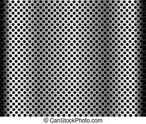 próbka, sześciokątny, czarne tło, struktura