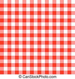 próbka, tablecloth, seamless, czerwony
