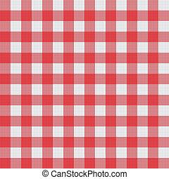 próbka, tablecloth, wektor, piknik
