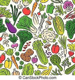 próbka, warzywa, seamless