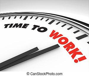 praca, -, czasowy zegar