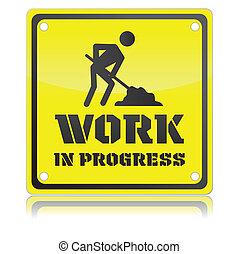 praca, odizolowany, ilustracja, jednorazowy, wektor, postęp, ikona
