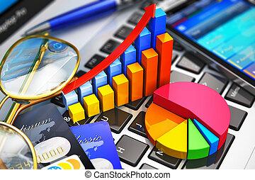 praca, pojęcie, finansowa analiza, handlowy