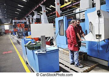 pracownicy, fabryka, ludzie