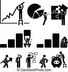 pracownik, finanse, handlowy, wykres
