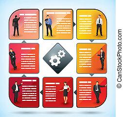 pracownik, prezentacja, wykres, handlowy