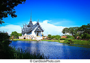 prasat, pałac, sanphet, tajlandia, bangkok