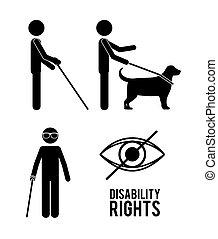 prawa, projektować, inwalidztwo