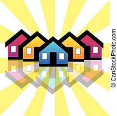 prawdziwy, domy, condos, stan, logo