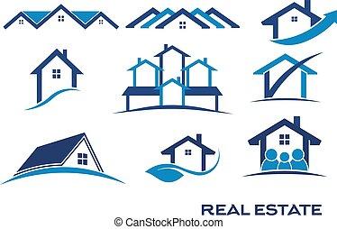 prawdziwy, logo, projekty, stan