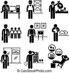 prawdziwy, stany, zbudowanie, prace