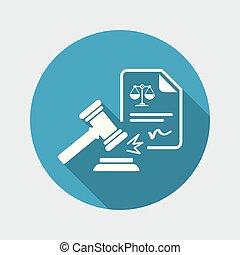 prawny dokument, ikona