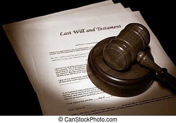 prawny, gavel, sędzia, będzie, ostatni, dokumenty