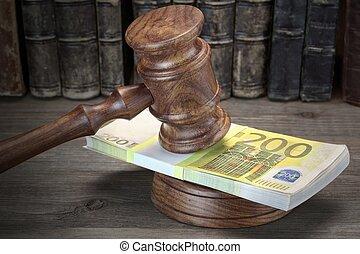 prawo, kabłąk, korupcja, pojęcie, licytacja, bankructwo, zbrodnia, bidding., oszustwo