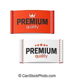 premia, jakość, etykieta