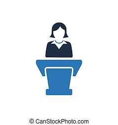 prezentacja, handlowy, ikona