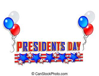 prezydent, graficzny, brzeg, dzień