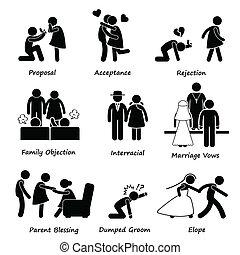 problem, miłość, para, małżeństwo