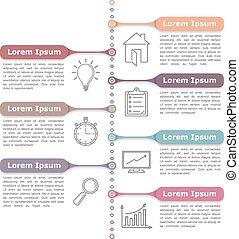 proces, diagram, szablon