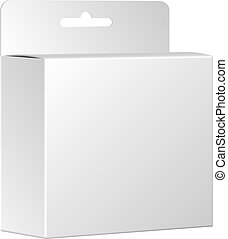 produkt, box., pakunek, odizolowany, wektor, tło, biały