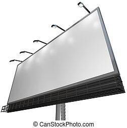 produkt, -, znak, reklama, czysty, tablica ogłoszeń, biały