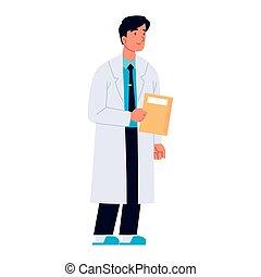 profesjonalny, doktor, medyczny