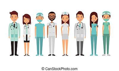 profesjonalny, medyczny, ludzie