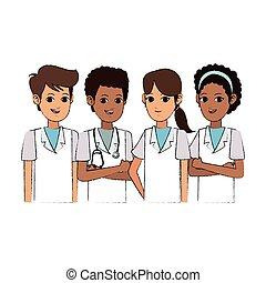 profesjonalny, medyczny, projektować, ludzie