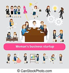 profesjonalny, tworzenie sieci, handlowa kobieta