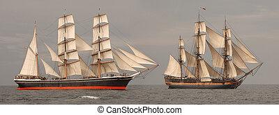 profil, wysokie statki