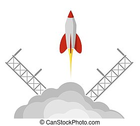 project., rakieta, startup., przelotny, space., procurement, presentation., początkowy, albo, ważny