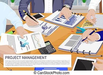 projekt, wektor, kierownictwo, chorągiew, ilustracja