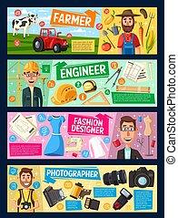 projektant, fotograf, fason, inżynier, rolnik