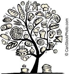 projektować, piekarnia, pojęcie, drzewo, twój