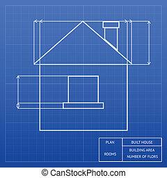 projektować, plan, dom