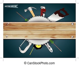 projektować, struktura, drewno, hardware, collage, deska, tło, wektor, zbudowanie, narzędzia, stolarka, szablon