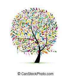 projektować, sztuka, drzewo, twój