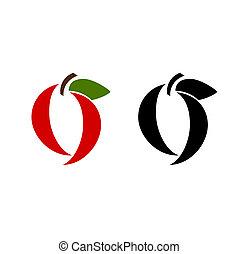 projekty, owoc, jabłko